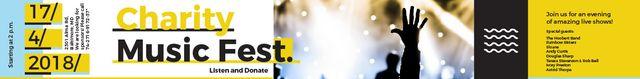Modèle de visuel Music Fest Invitation Crowd at Concert - Leaderboard