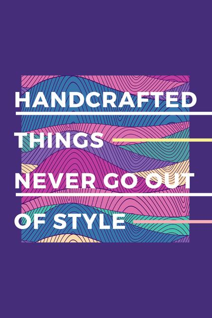 Template di design Citation about Handcrafted things Pinterest