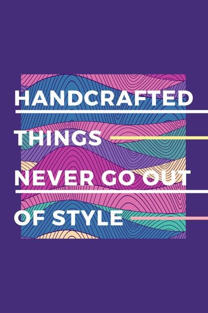 Citation about Handcrafted things Pinterest Tasarım Şablonu