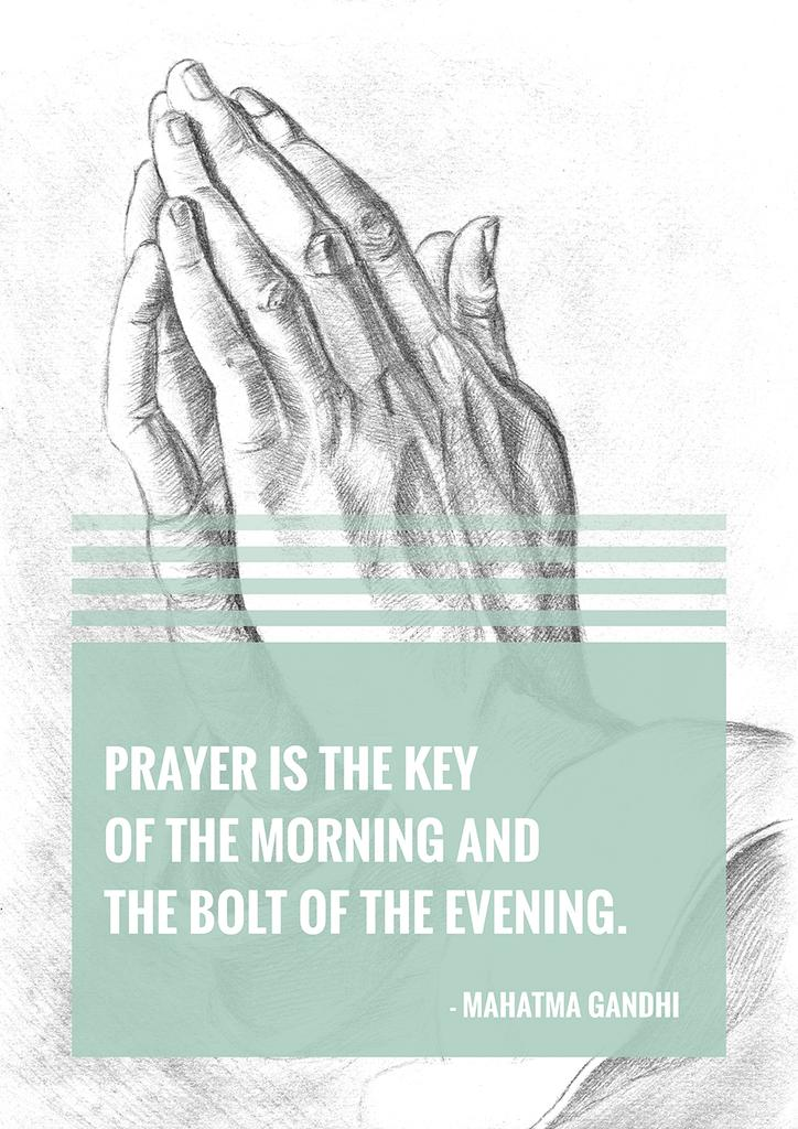 Religion citation about prayer — ein Design erstellen