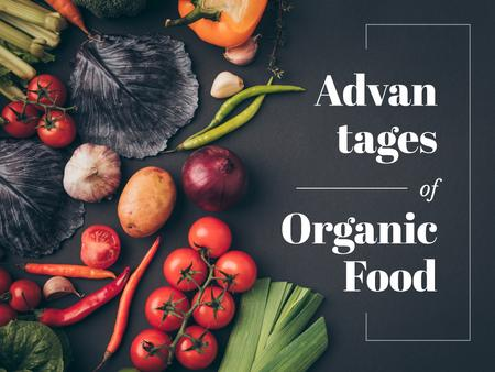 Advantages of organic food Presentation Modelo de Design
