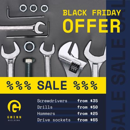 Plantilla de diseño de Black Friday Offer Repair Tools Instagram