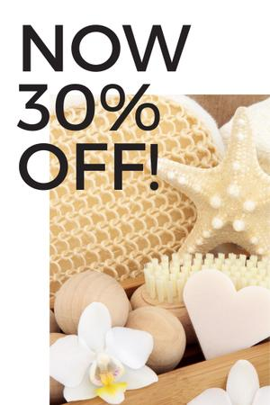 Plantilla de diseño de Discount Offer with Bath attributes Pinterest