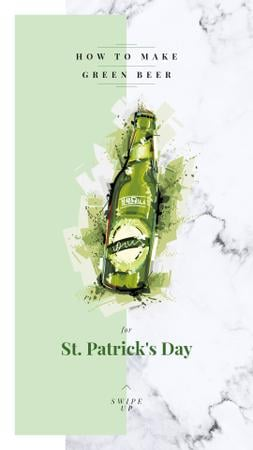 Saint Patrick's Day beer bottle Instagram Story – шаблон для дизайна