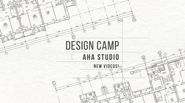 Design Camp Studio Ad with blueprints