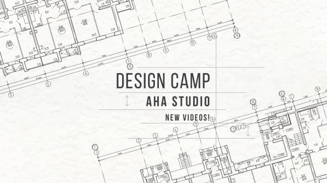 Design Camp Studio Ad with blueprints Youtube Modelo de Design
