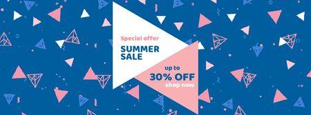 Plantilla de diseño de Pattern with triangles and minimal icons Facebook Video cover