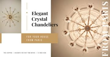 Large Elegant Chandelier Offer | Facebook Ad Template