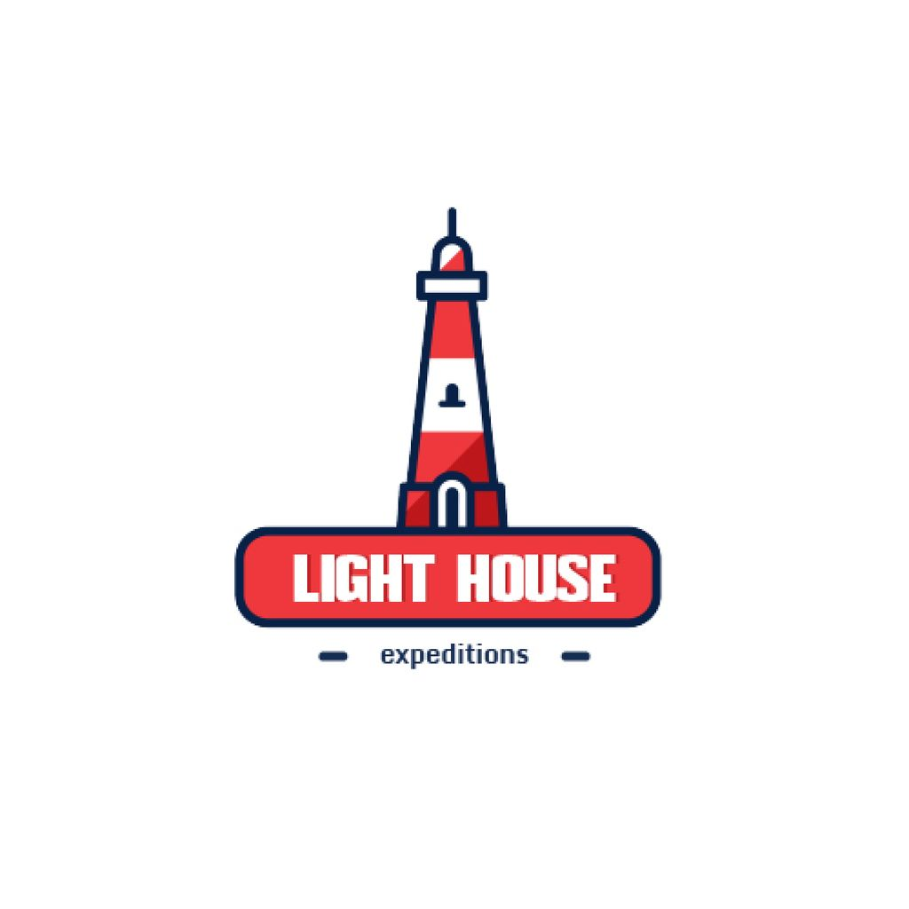 Travel Expeditions Offer Lighthouse in Red — Create a Design