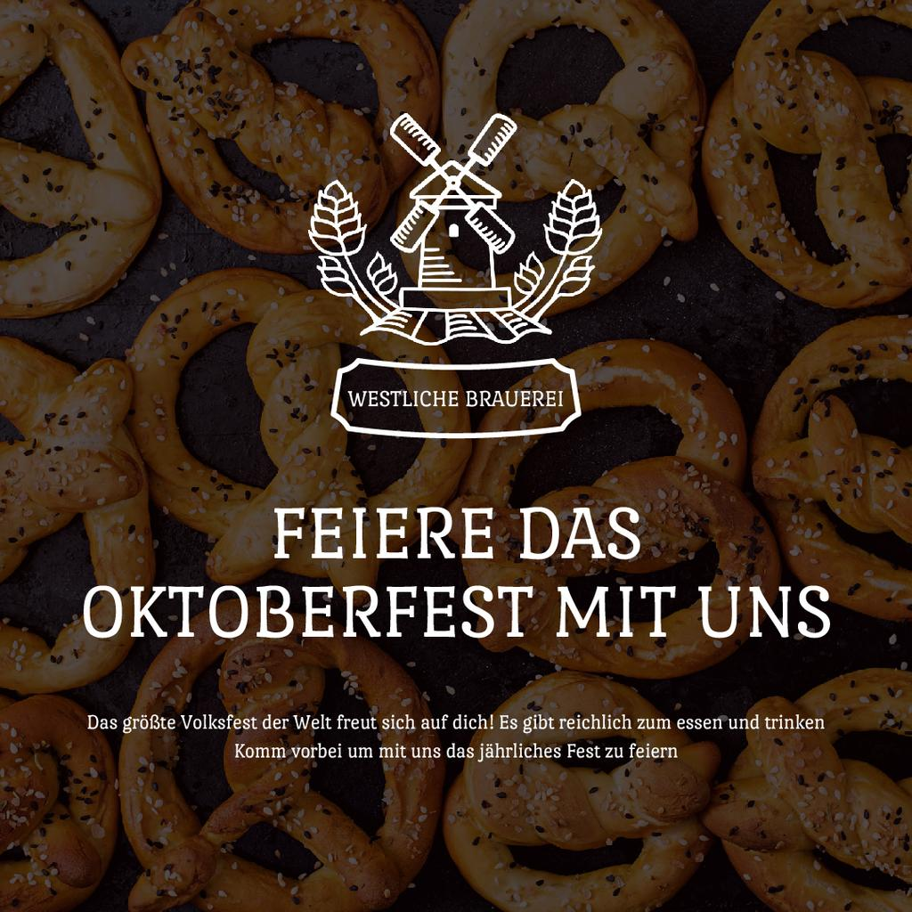 Oktoberfest Offer with Pretzels with Sesame — Создать дизайн