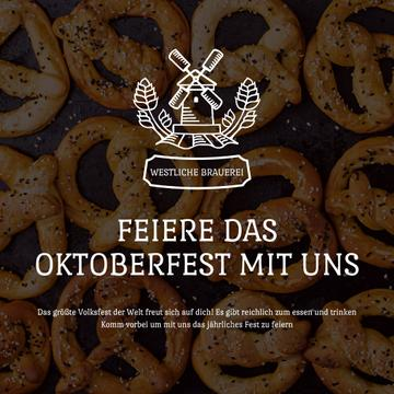 Oktoberfest Offer Pretzels with Sesame | Square Video Template