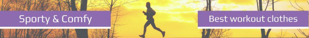 Workout Equipment Offer Man Running Outdoors | Leaderboard Template — Crear un diseño