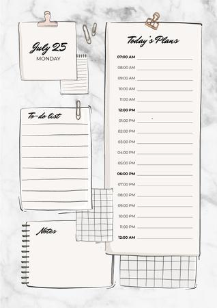 Schedule Planner with Paper Clips Schedule Plannerデザインテンプレート