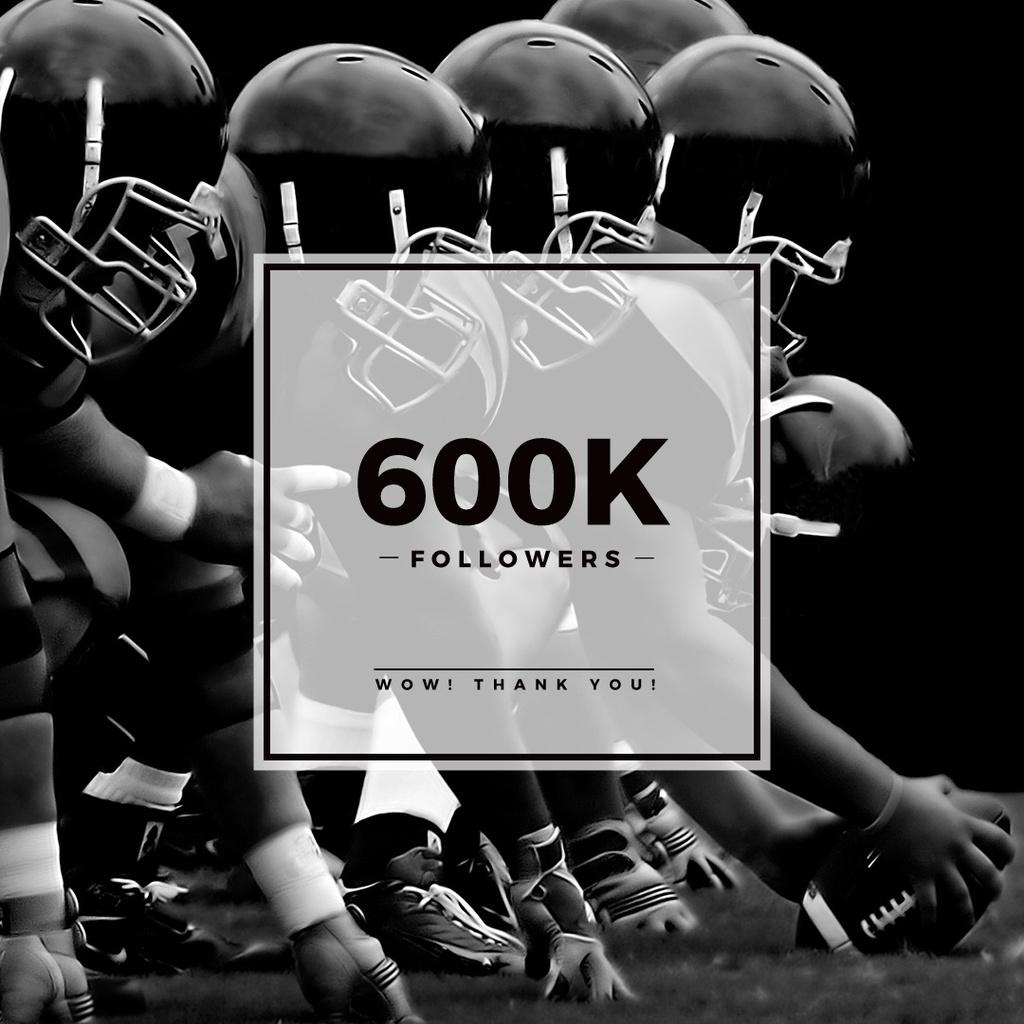 600k followers poster for sport blog — Crea un design