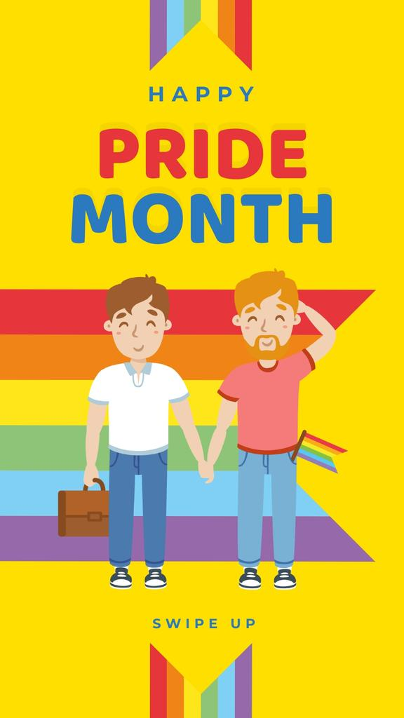 Pride Month with Two men holding hands — Crea un design