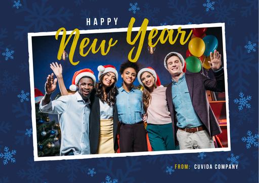 Happy New Year Greeting People Celebrating