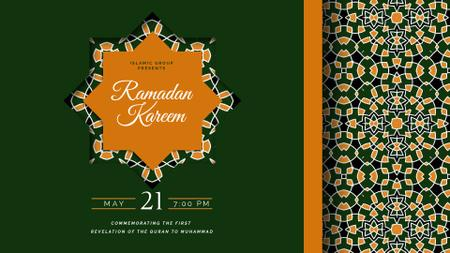 Plantilla de diseño de Ramadan Kareem greeting Full HD video