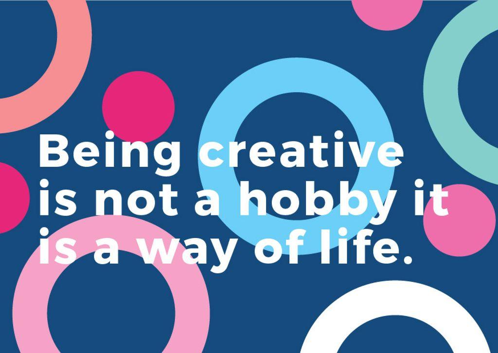 Citation about how to be a creative Card – шаблон для дизайна
