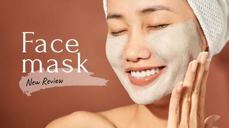 Modèle de visuel Woman Applying face Mask - Youtube Thumbnail