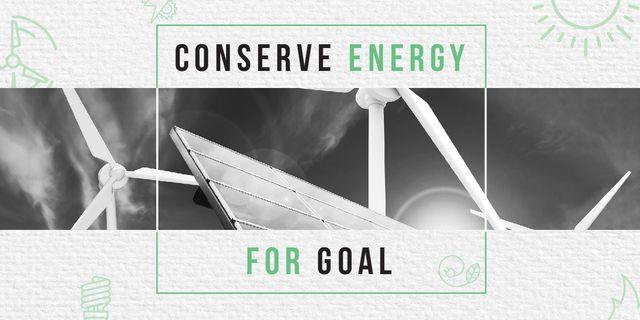 Concept of Conserve energy the future  Image Modelo de Design