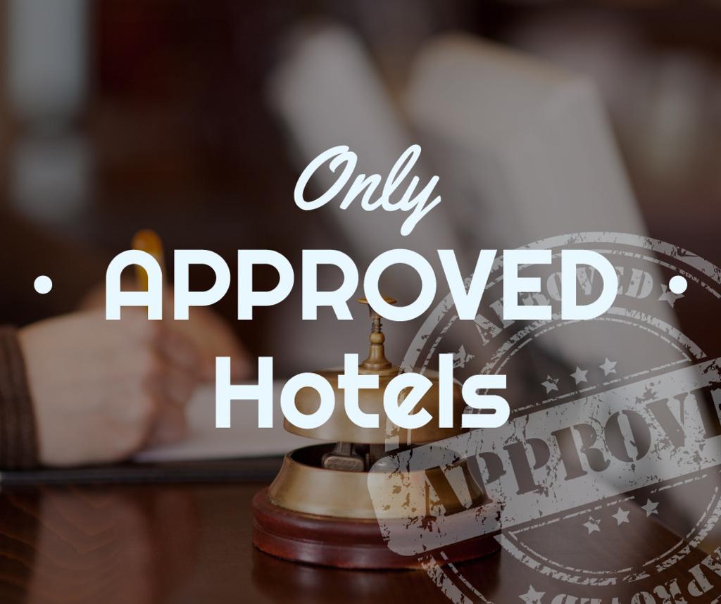 Hotels Guide Bell at Reception Desk — Créer un visuel