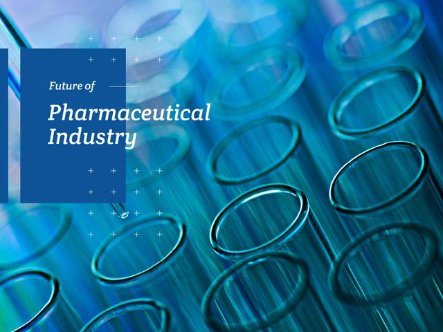 Pharmacy Industry Test Tubes in Lab Presentationデザインテンプレート