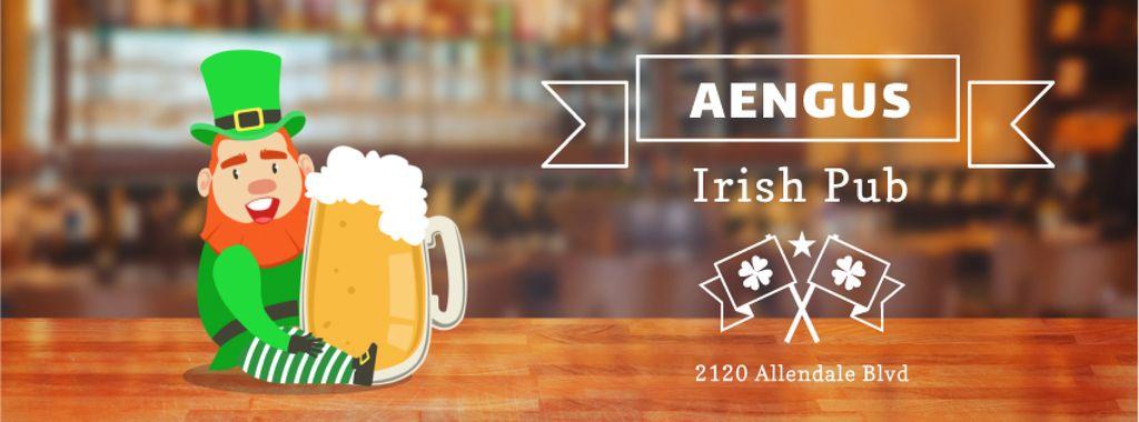 Saint Patrick's leprechaun in pub — Maak een ontwerp
