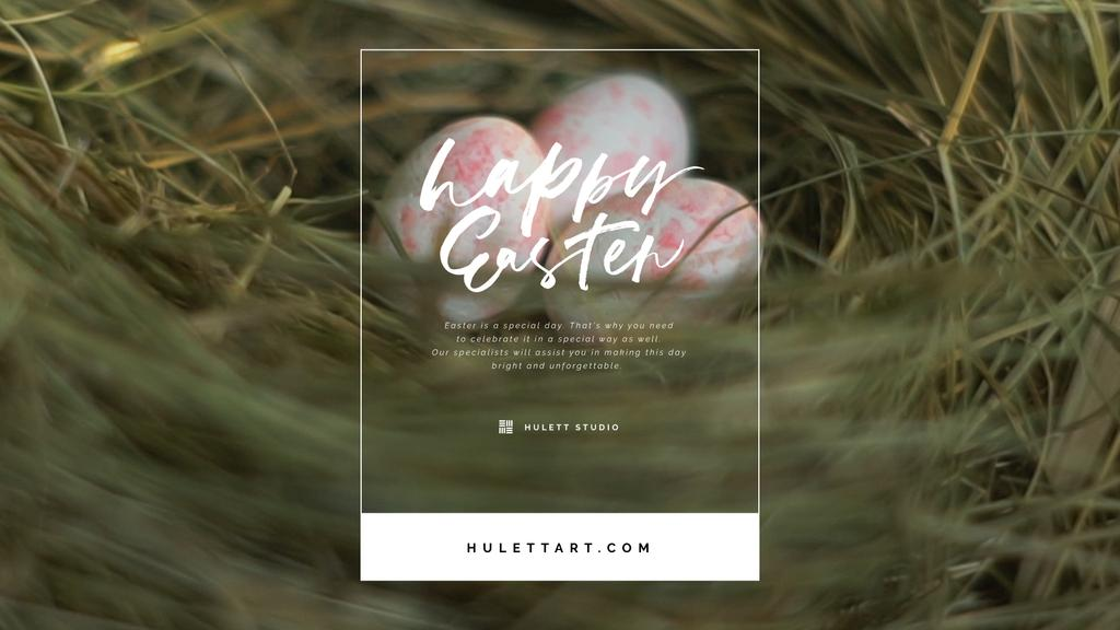 Colored Easter eggs in nest — Create a Design