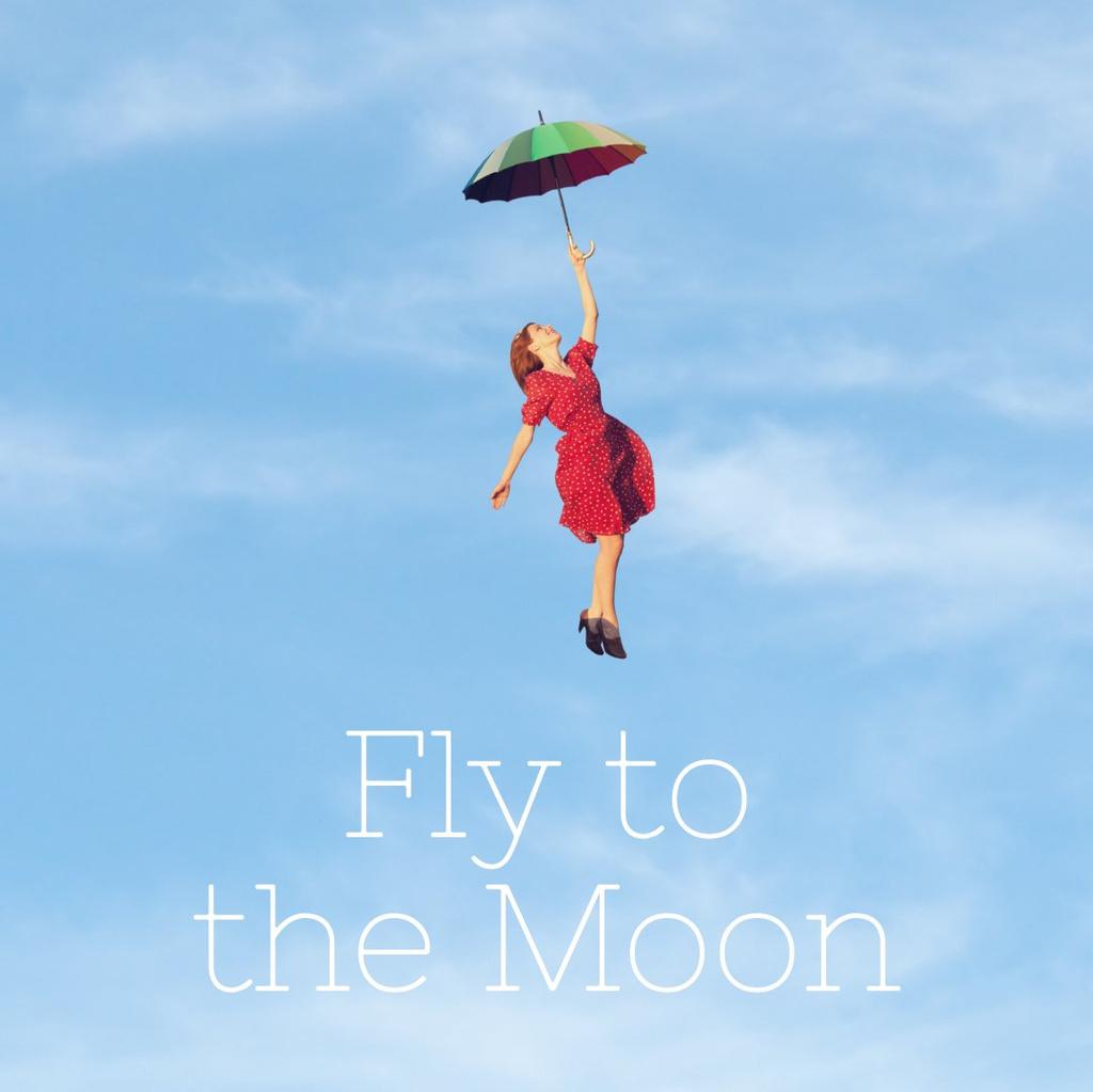 Woman Flying on an Umbrella — Crea un design