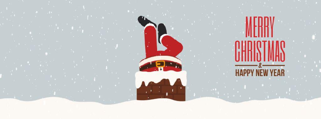 Santa stuck in chimney — Create a Design