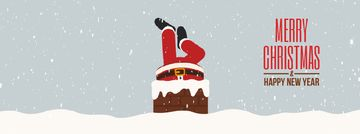 Santa stuck in chimney