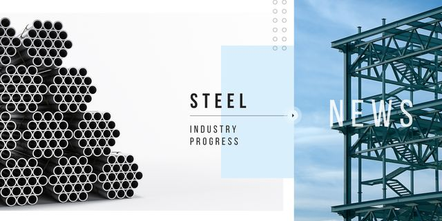 Industrial steel production Image Design Template