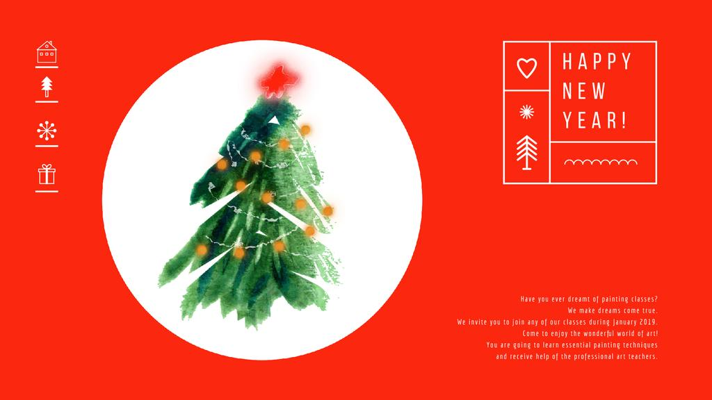 Decorated Christmas tree — Create a Design