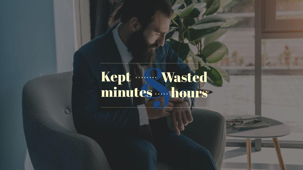 Businessman looking on watches – Stwórz projekt