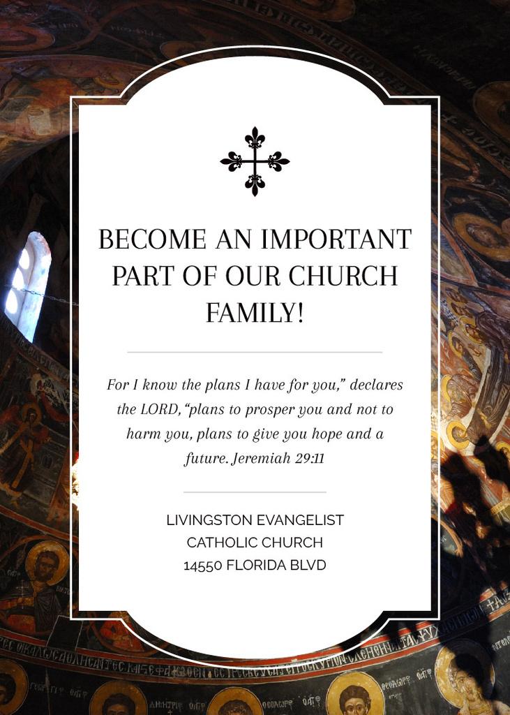Church Invitation Old Cathedral View — Crea un design
