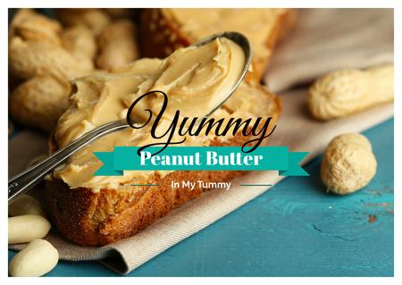 Plantilla de diseño de Delicious sandwich with peanut butter Card