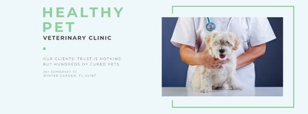 Healthy pet Veterinary clinic Facebook cover – шаблон для дизайну