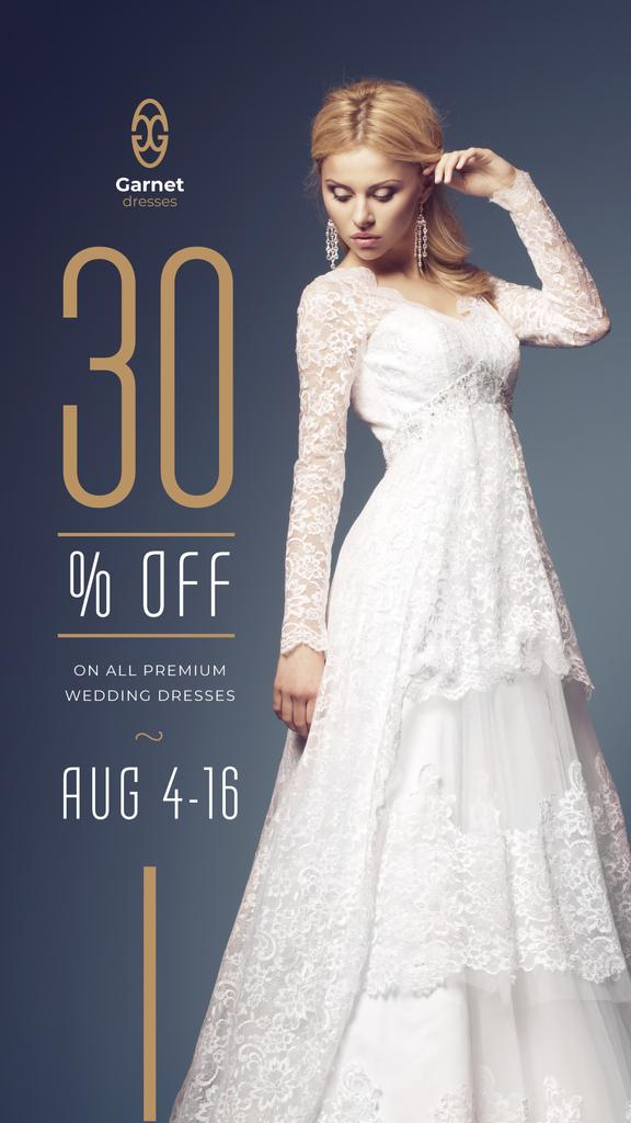 Wedding Dress Store Ad Bride in White Dress — Maak een ontwerp