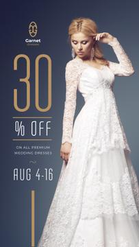 Wedding Dress Store Ad Bride in White Dress | Stories Template