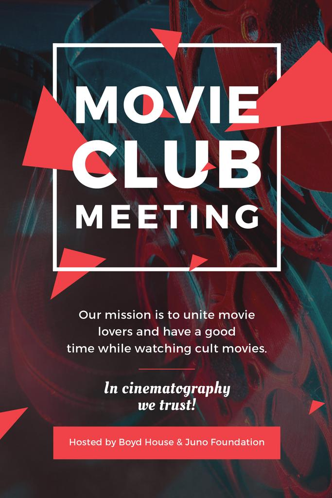 Movie Club Meeting Vintage Projector | Pinterest Template — Create a Design