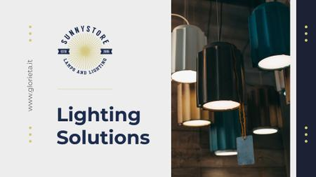 Template di design Modern light lamps Presentation Wide
