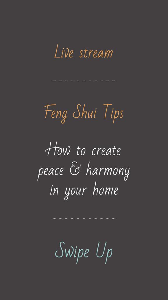 Feng Shui live stream announcement — Create a Design