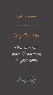 Feng Shui live stream announcement