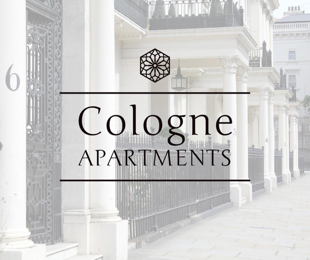 Real Estate Ad Apartments in White — Crear un diseño