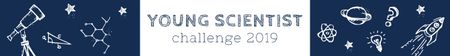 Young scientist challenge banner Leaderboard Modelo de Design