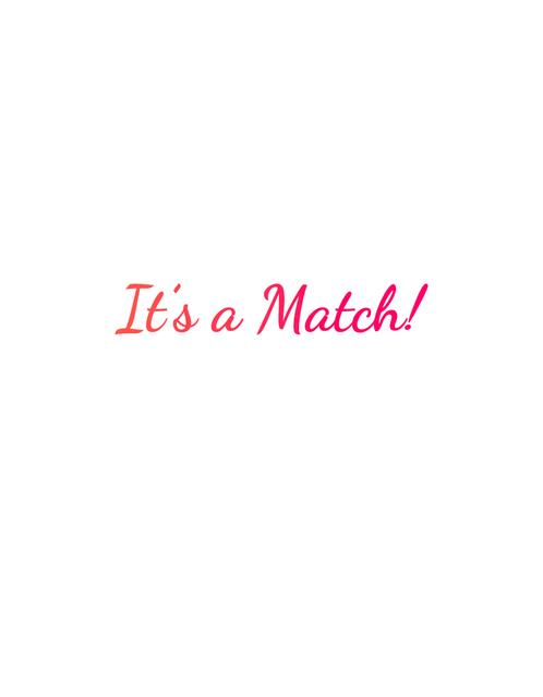 Template di design It's a Match inscription T-Shirt
