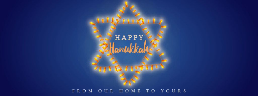 Happy Hanukkah greeting lights — Modelo de projeto