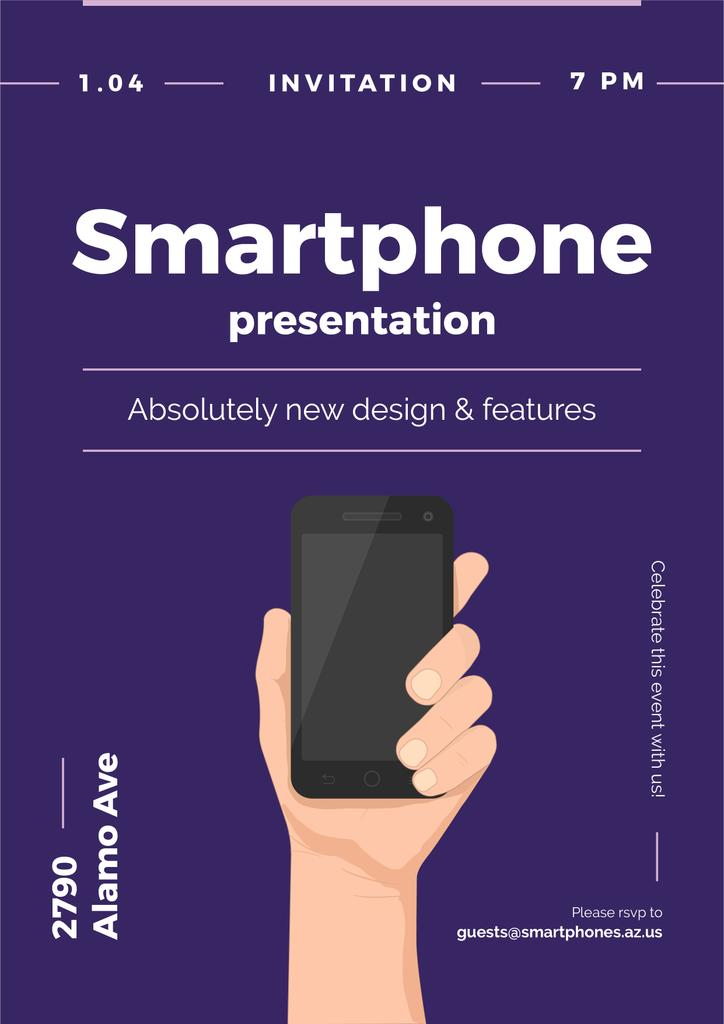Invitation to new smartphone presentation — Створити дизайн