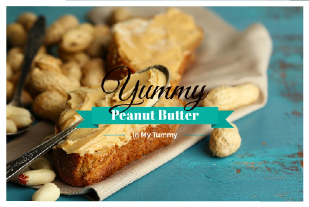 Delicious sandwich with peanut butter and text — Crear un diseño