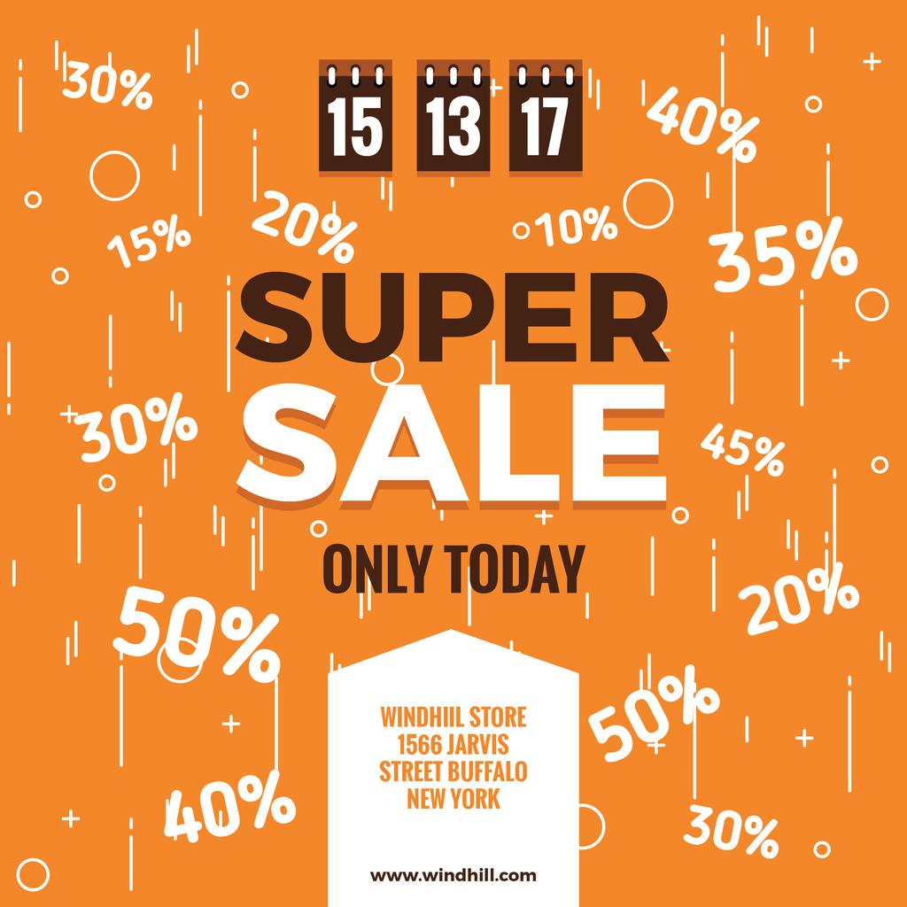 Super sale Ad on orange — Modelo de projeto